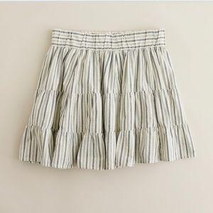 J.Crew Gray stripe skirt